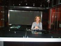 Me playing newsroom girl.