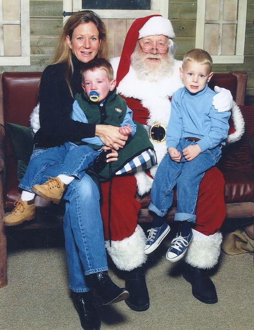 Boys with Santa 2002