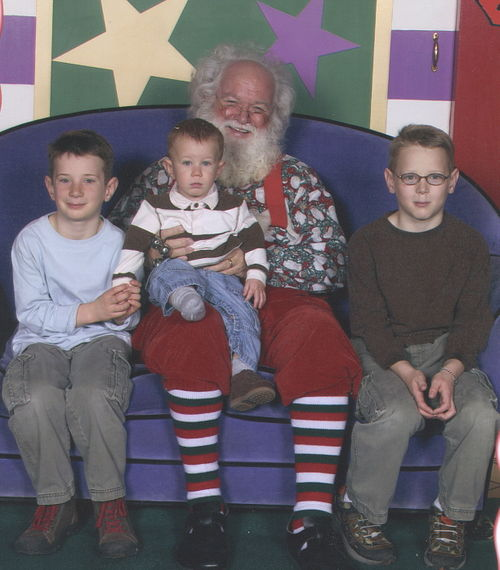 Boys with Santa 2006