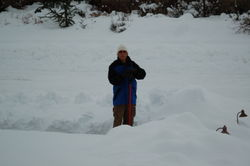 Dad shoveling AGAIN - Christmas 2008