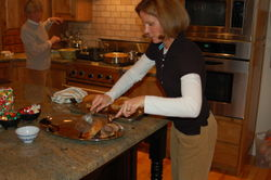 Mother and I preparing Christmas dinner - 2008