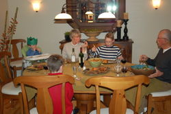 Dad, Mother and boys - Christmas dinner 2008
