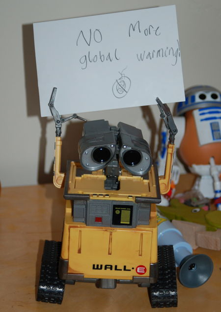 "Wall-E for ""No More Global Warming"""