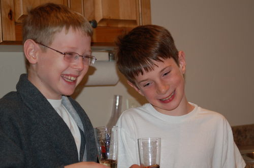 Oldest Boy and Middle Boy - New Year's Eve 2008-09