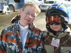 Oldest Boy and Middle Boy - Snowbird 2.21.09
