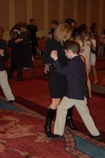 Middle Boy and I dancing.