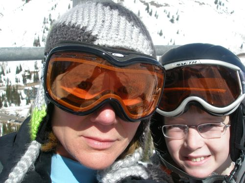 Oldest Boy and me at Snowbird - March 2009