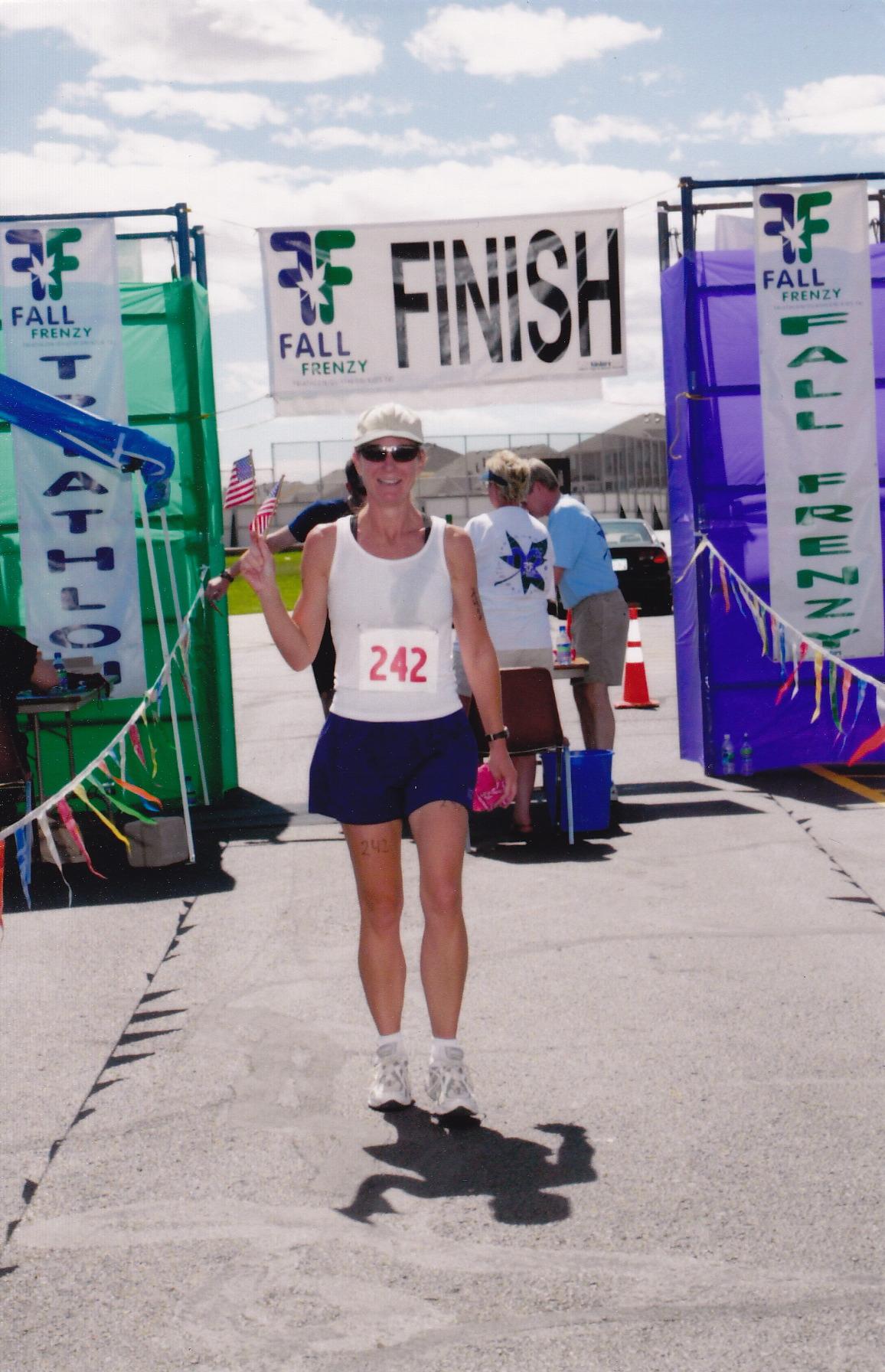 Triathlon in Denver 2002 - Finish!