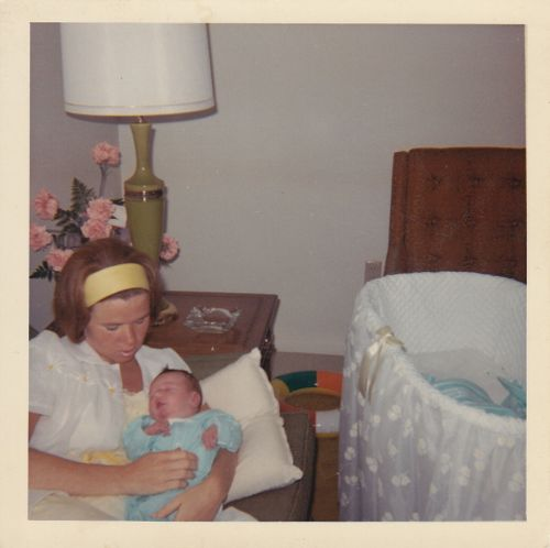 Mother and me a few days after my birth.