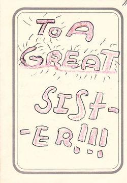 Card Joe made me - 1970s