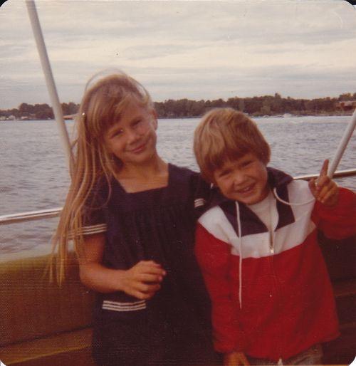 Joe and me on Lake Wawasee.