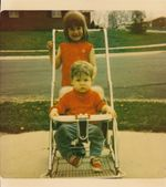 Joe and me - Winchester, Indiana - 1970