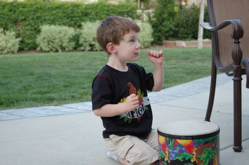Toddler Child keeping a beat