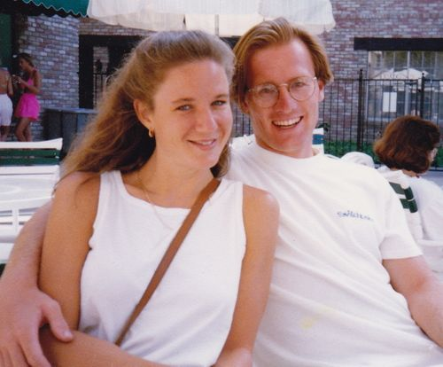Chris and I in Disneyland - 1994ish