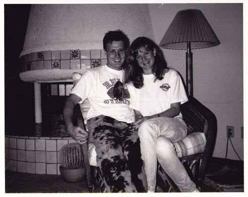 Chris and I before we were married. 1989