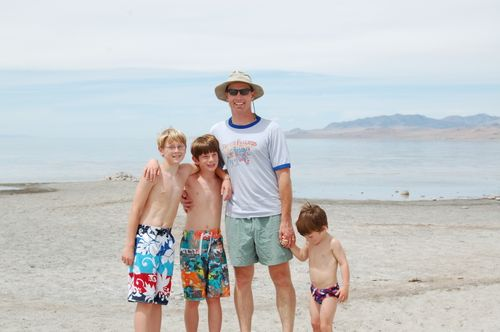 Chris and Boys - Great Salt Lake