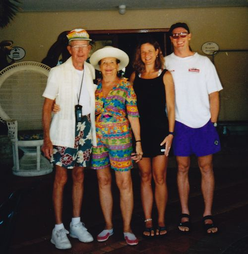 Cabo San Lucas with Mamaw and Papaw - Oct. 1986