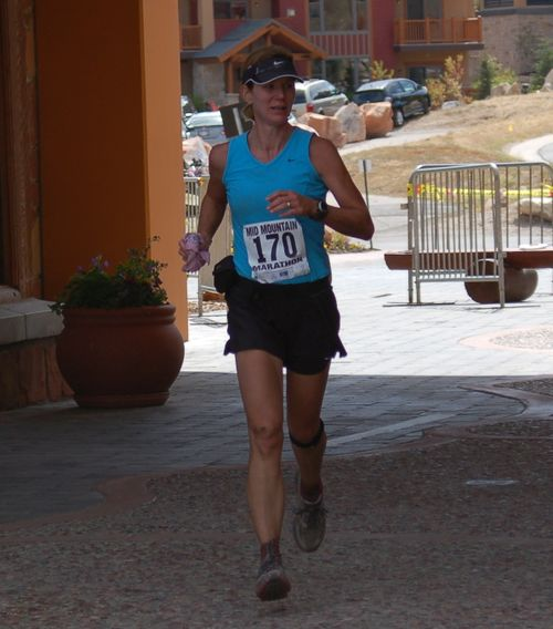 Finishing Mid Mountain Marathon
