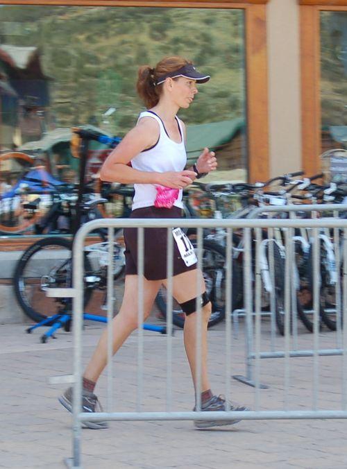 Supermodel finishing Mid Mountain Marathon