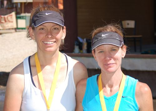 Supermodel and me - End of Mid Mountain Marathon