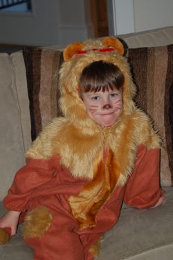4YO Boy as Cowardly Lion