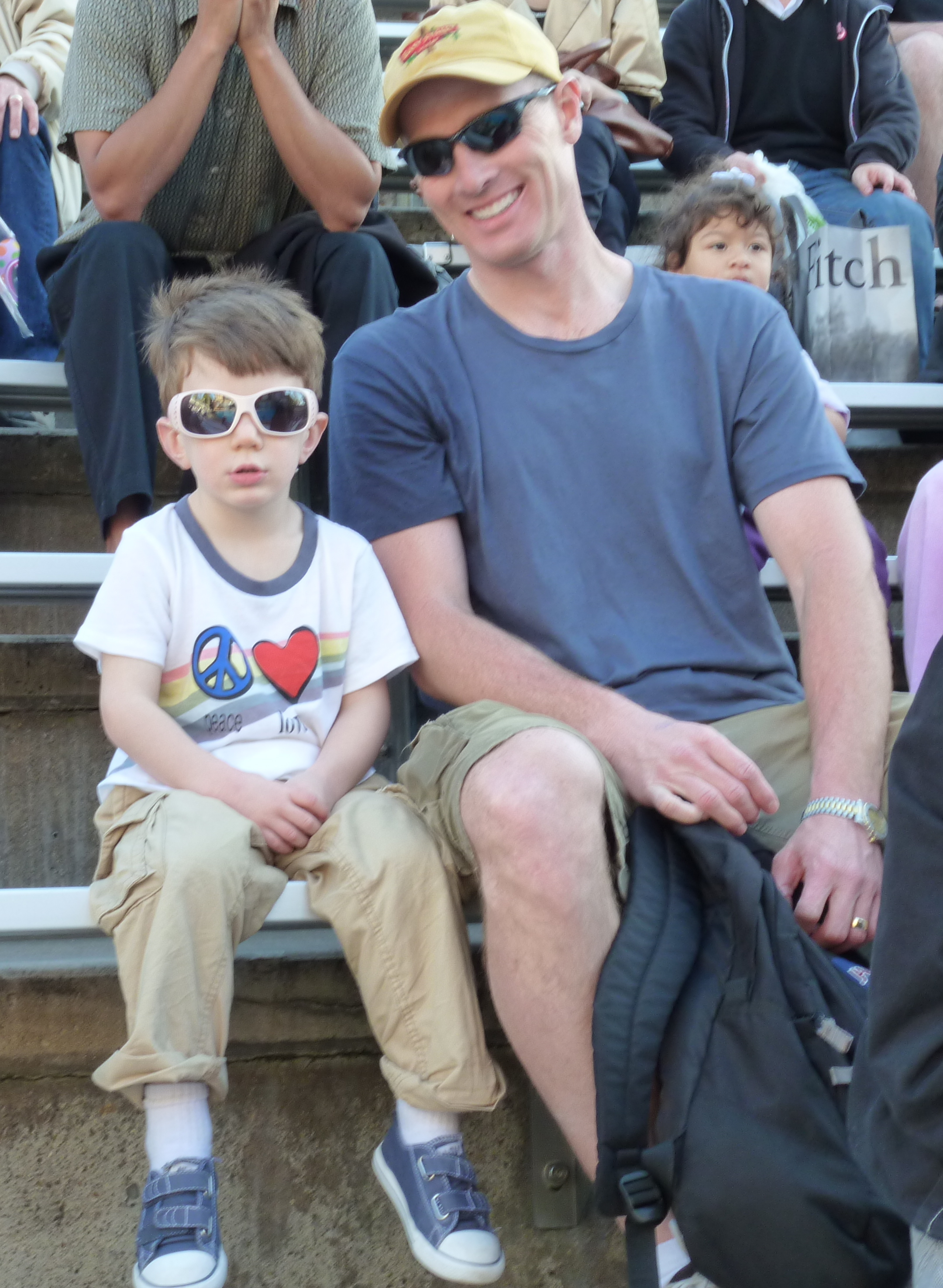 Chris and the 4YO at SeaWorld - Fancy Glasses