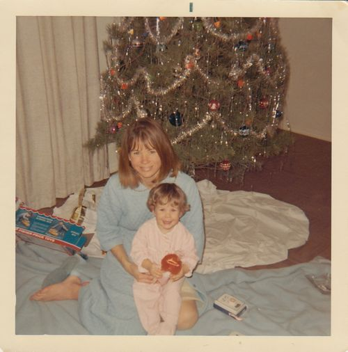 Mom and me - Christmas 1967