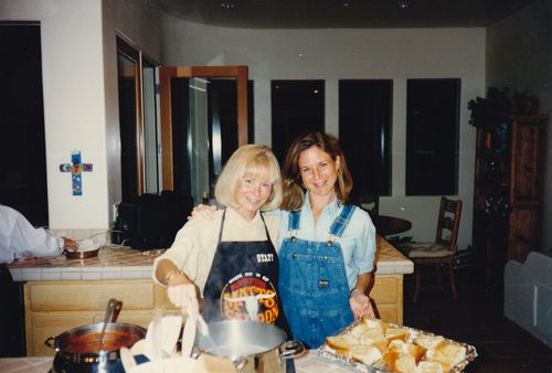 Mom and I cooking - 1996