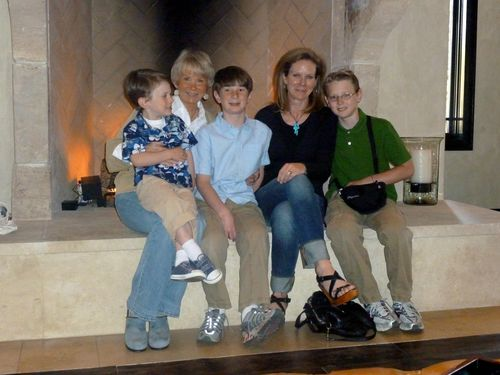 All three boys, Mom and me - Mother's Day 2010
