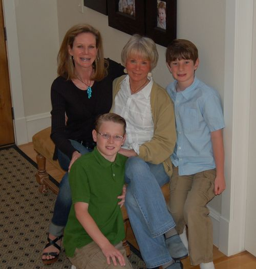 Mom, Oldest Boy, Middle Boy and me - Mother's Day 2010