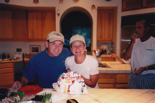 Joe and me celebrating our birthdays.
