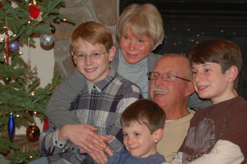 Mom, Dad and Boys - Christmas 2010