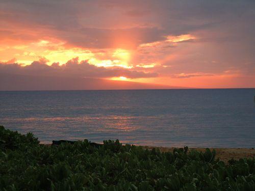 Sunset Behind Lanai